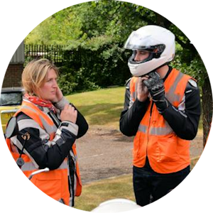 DAS motorcycle training Module Two female instructor