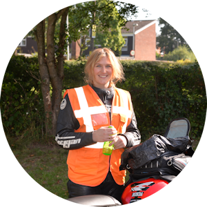 Female CBT DAS motorcycle instructor Laura Smith