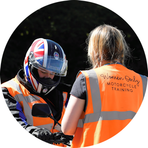 Female motorcycle instructor compulsory basic training