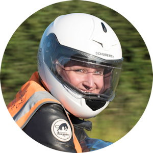 Learn to ride a motorcycle with a female motorcycle training instructor