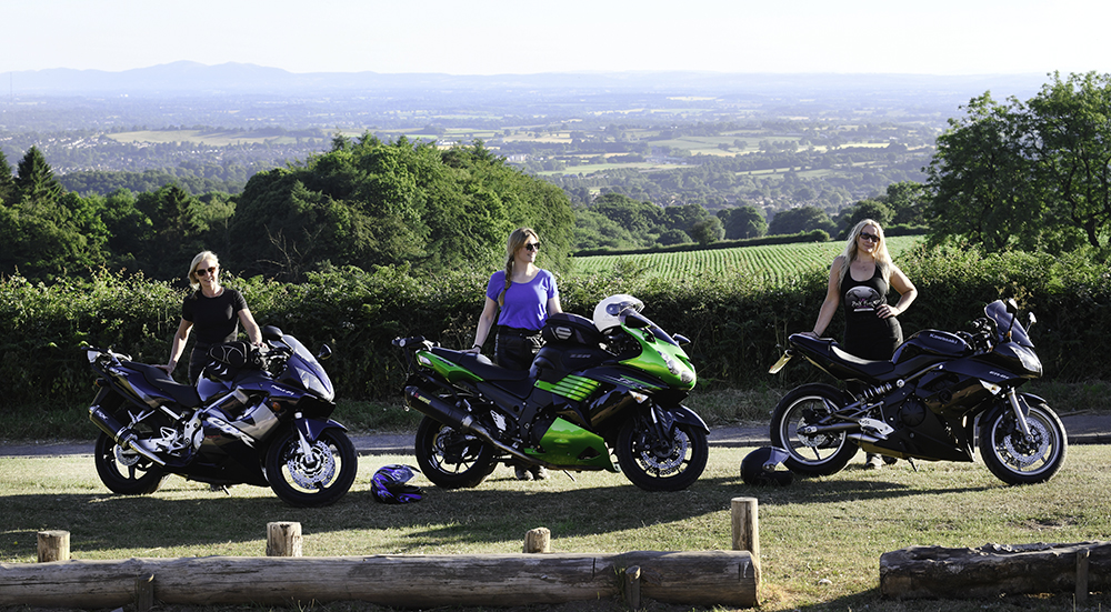 Laura Smith with colleagues & students at Women Only Motorcycle Training